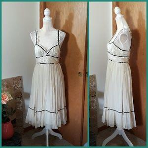 NWT BCBGMaxAzria Silk Empire Waist V Neck Dress